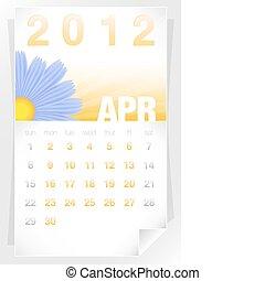 2012 Floral April Calendar