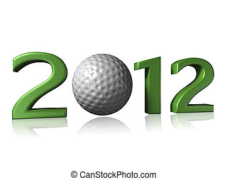 2012 golf design on white background
