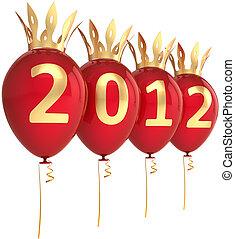 2012 Happy New Year balloons