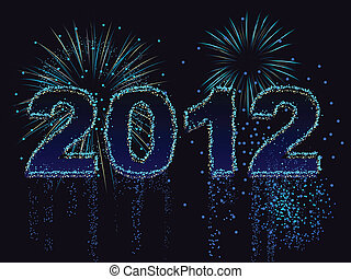Fireworks display spells out the year 2012