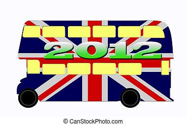 2012, inghilterra, olimpiadi, autobus, londra