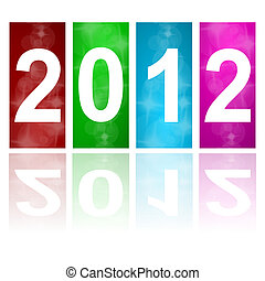 2012 new year abstract background