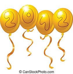 2012 new year balloons