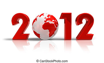 2012 New Year concept - Creative 2012 New Year concept with...