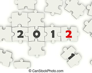 2012 New Year sing on puzzle