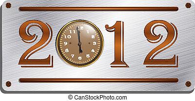 2012 on the metallic plate, steampu