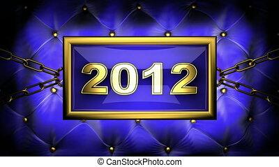 2012 on velvet background