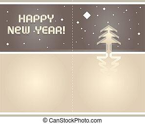 2012, origami, carte postale