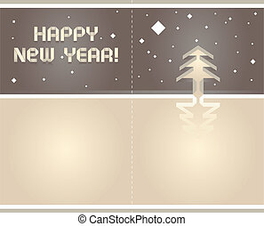 2012, origami, levelezőlap
