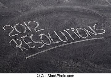 2012 resolutions on blackboard