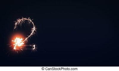 2012 Sign, New Year Sparkler