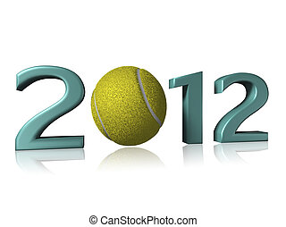 2012 tennis design on a white background