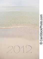 2012 written in the beach