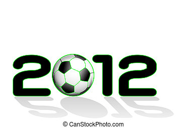 2012 written with soccer ball