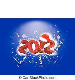 2012 year holiday illustration