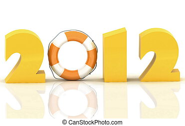 2012 year. Isolated 3D image