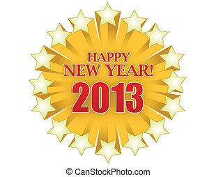 2013, 愉快, 新年, 星