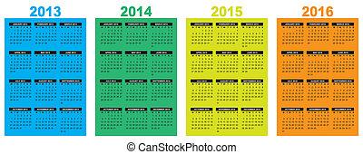 2013-2014-2015-2016, calendrier