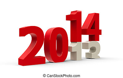 2013-2014 change represents the new year 2014,...
