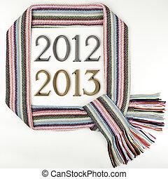 2013, -, ano, tema, novo, 2012