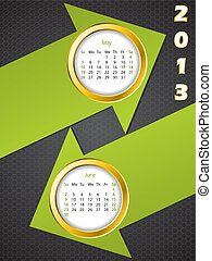 2013 arrow calendar for may and june