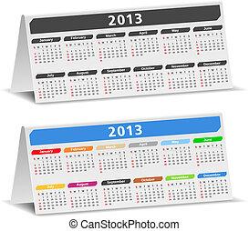 2013, bureau, kalenders