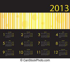 2013, calendário, com, especiais, desenho