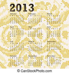 2013 calendar albino snake skin