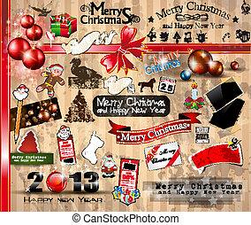 2013 Christmas Vintage typograph design elements