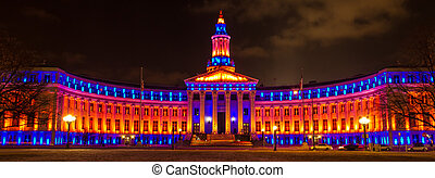 2013 Denver City and County Building special lighting in...
