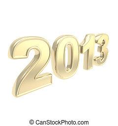 """2013"", dorado, mil, dos, trece, año, símbolo"