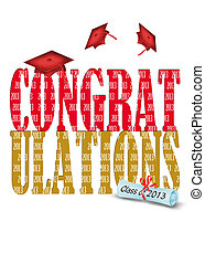 2013 gold and red graduation