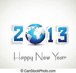 2013 happy new year celebration and business presentations vector design