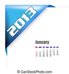 2013 January calendar