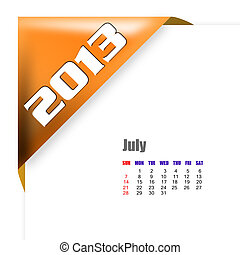2013 July calendar