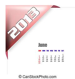 2013 June calendar