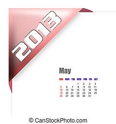 2013 May calendar