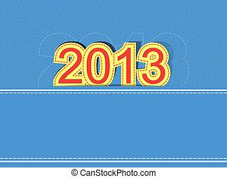 2013 new year design background