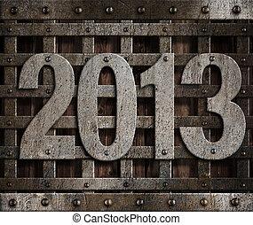 2013 new year metal illustration