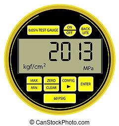 2013 New Year modern digital gas manometer