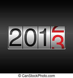 2013 New Year Odometer