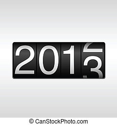 2013 New Year Odometer - New Year 2013 design - odometer...