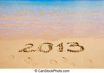 2013 new year on the beach