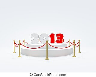 2013 New Year symbol on podium