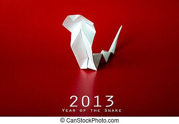 2013 New Year with true paper snake