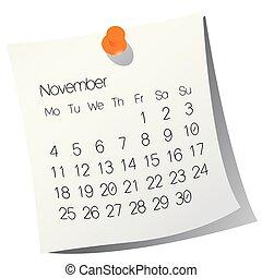 2013 November calendar
