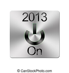2013 On button.