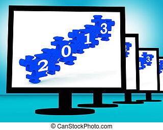2013 On Monitors Showing Future Technology