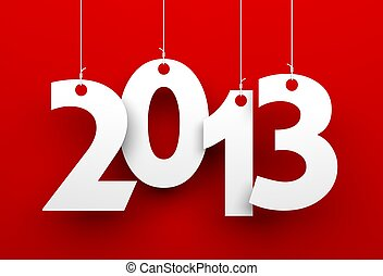 2013 on red background