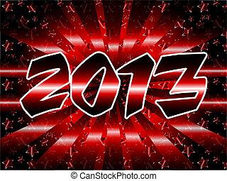 2013, rood, metalen, zonnestraal